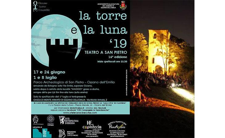 Torna ad Ozzano il festival teatrale «La torre e la luna»