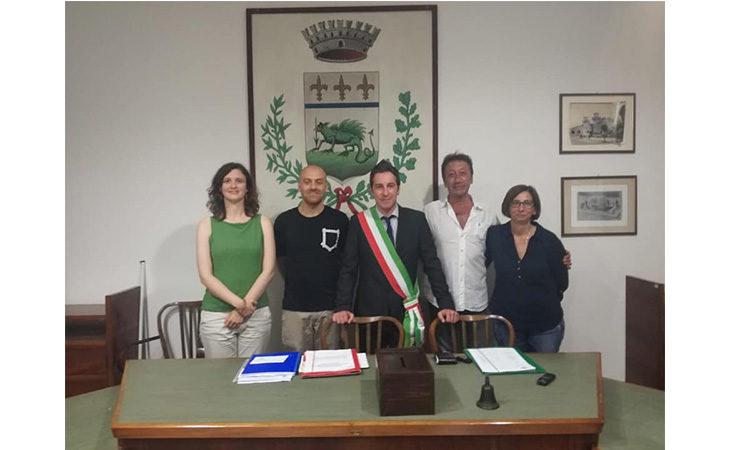Il sindaco di Mordano Tassinari e la nuova Giunta, in squadra due uomini e due donne