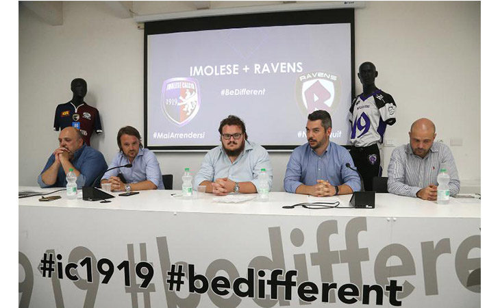 Nasce la collaborazione tra Imolese Calcio e i Ravens di football americano. IL VIDEO