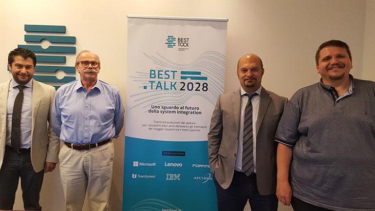 Il sindaco Luca Lelli e l'assessore Claudio Garagnani in visita alle aziende, la Best Tool e l'impegno con l'Ozzanese calcio