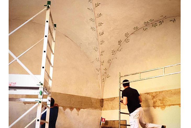 Inaugura oggi il restauro della loggia dei fogliami della Rocca di Dozza