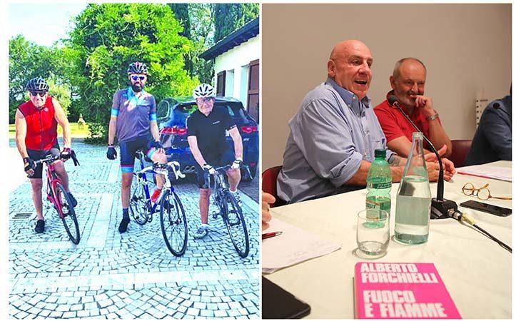 L'economista e scrittore Alberto Forchielli tra una rimpatriata in bici con Prodi e la presentazione del nuovo libro