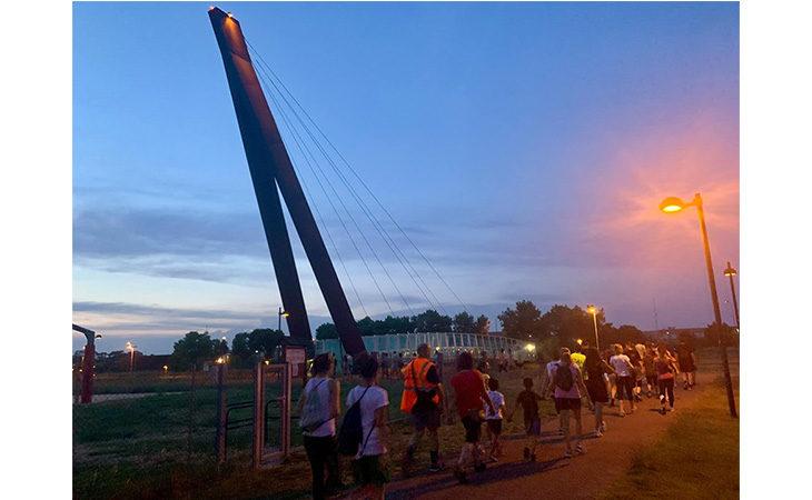 «Camminacittà», a Imola dalla Bocciofila si va in direzione «Imola nord»