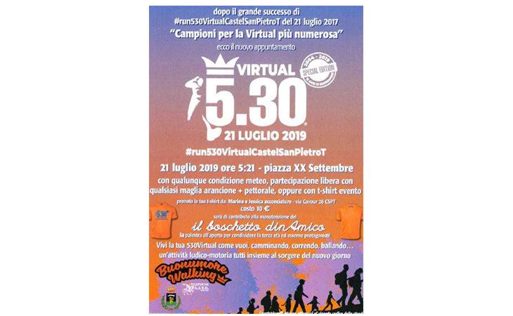 «Virtual 5.30» a Castello, una camminata tutti insieme all'alba con la maglia arancione