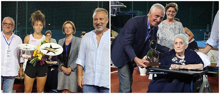 Tennis, Stefania Rubini trionfa ancora agli Internazionali di Imola. Premio «Dadina» a Francesco Moser