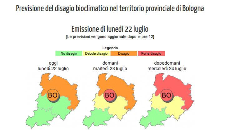 """Ondata di calore da """"allarme rosso' in pianura, tra Imola, Medicina e Castel Guelfo"""