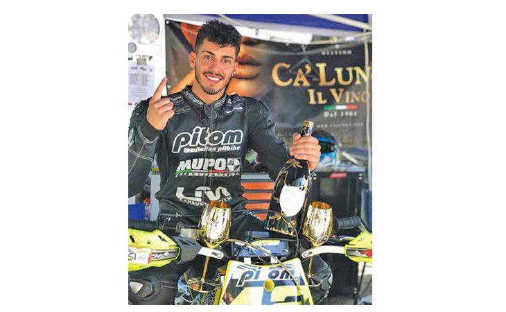 Motori, l'imolese Bryan D'Onofrio campione italiano delle Pitbike