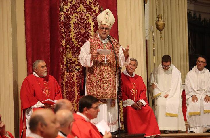 """""""Rendere presente Cristo nella vita comune'. Lo sprone del vescovo Mosciatti alla sua prima festa del patrono"""