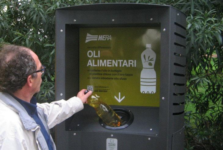 Rifiuti, cresce la raccolta dell'olio alimentare nel circondario imolese: +33% nel primo semestre 2019 rispetto al 2018