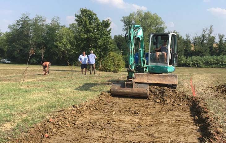 Un nuovo parco sta sorgendo a Ozzano tra via Impastato, via Galvani e il rio Marzano