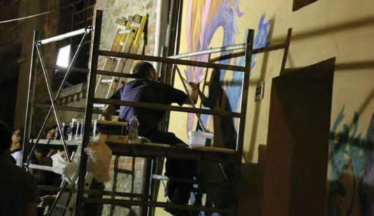 Al via #EmozioniUrbane, sei gli artisti protagonisti dell'edizione 2019 della Biennale del Muro dipinto di Dozza