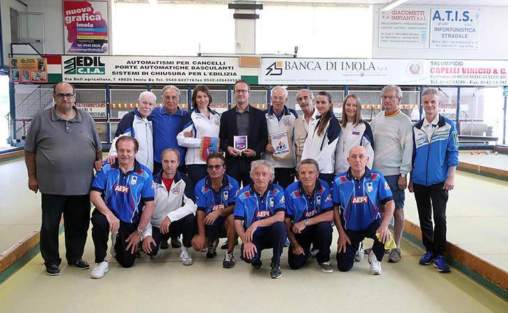 La nazionale russa di bocce si è allenata all'Asbi per preparare i campionati europei