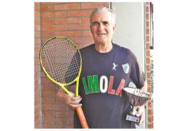 Tennis, l'imolese Bruno Pelliconi ed il 9º titolo tricolore nel torneo «Over 70» delle Polizie Locali