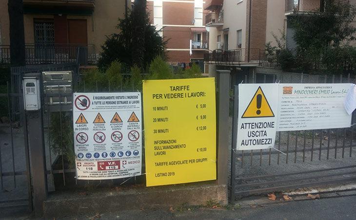 Un tariffario per gli umarells da cantiere, l'idea curiosa di un'azienda edile di Imola