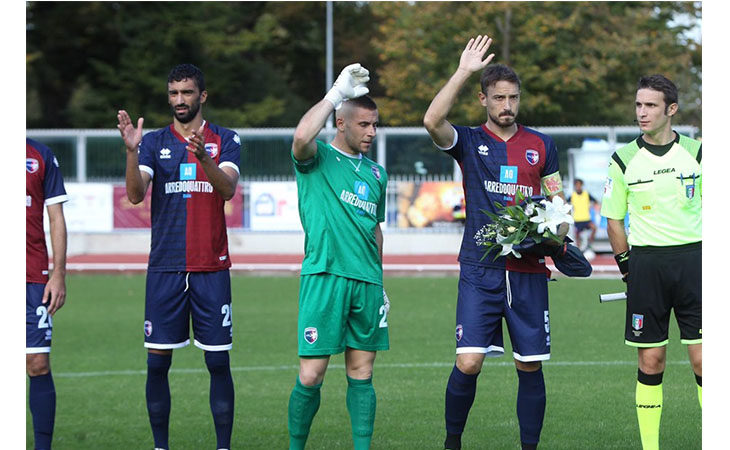Calcio serie C, stasera l'Imolese di scena a Gubbio. Il tecnico Atzori: «Al momento è la gara più importante dell'anno»