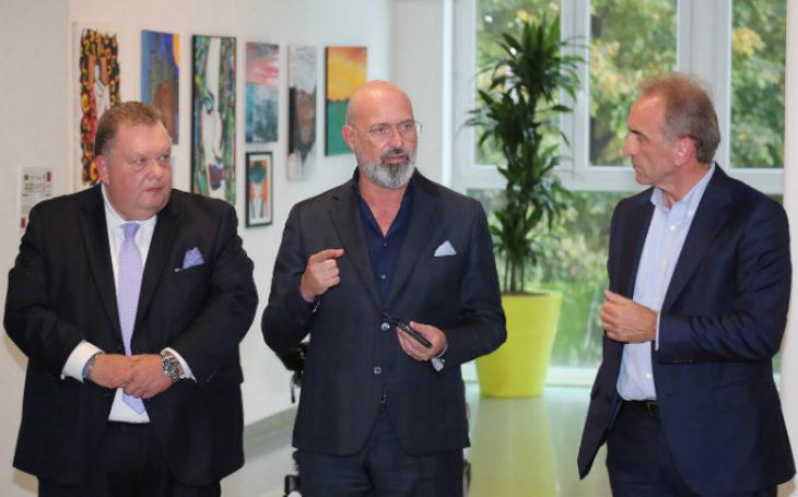 La visita del presidente della Regione Stefano Bonaccini al Montecatone Rehabilitation Institute