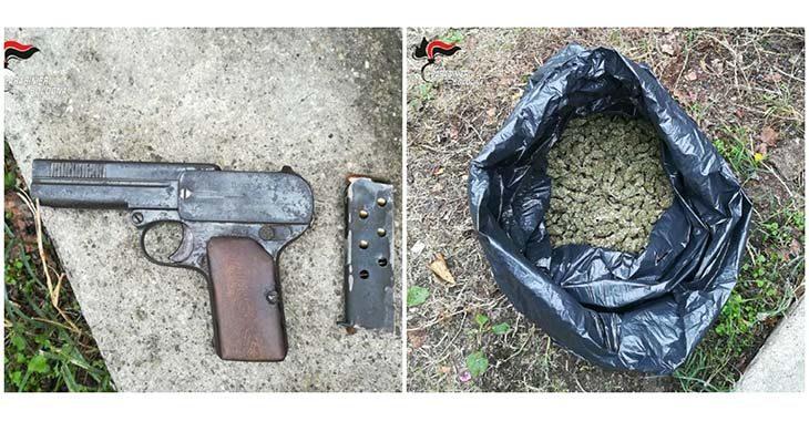 Sorpreso con quasi un chilo di marijuana ed una pistola da guerra, arrestato 46enne imolese