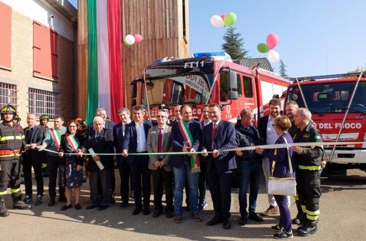 Nuovi automezzi e castello di manovra per il distaccamento dei Vigili del Fuoco volontari di Fontanelice