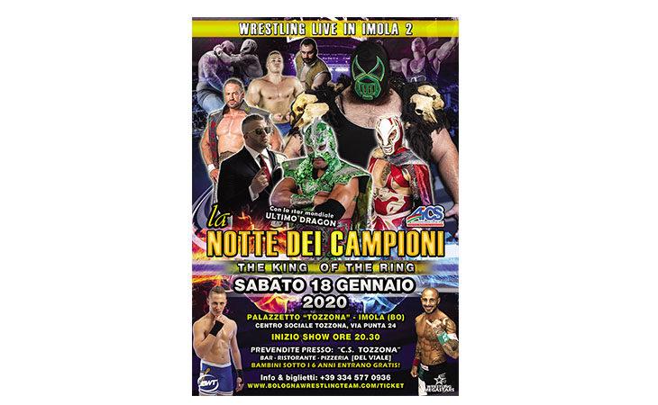 Wrestling, a gennaio un'altra «Notte dei campioni» alla Tozzona