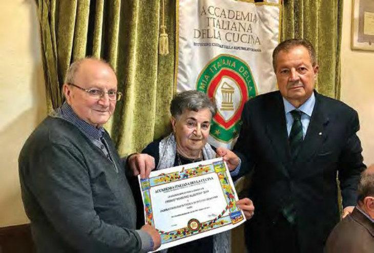 La delegazione imolese dell'Accademia italiana  della cucina ha premiato il Pastificio Bettini
