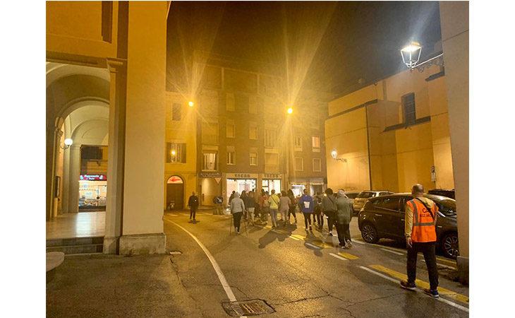«Camminacittà», a Imola dalla Bocciofila si va in direzione «Parco Tozzoni»