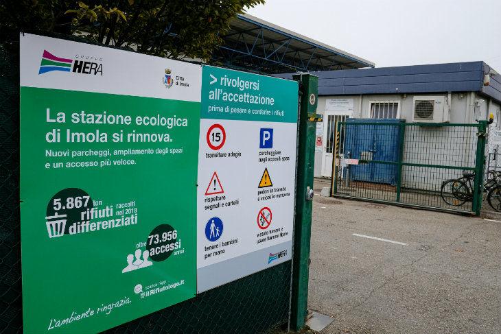 Si amplia la stazione ecologica di Imola, i lavori in corso costano 200 mila euro e dureranno fino a febbraio