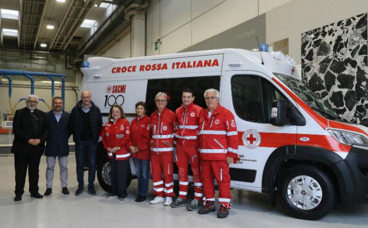 Centenario Sacmi, donata alla Croce Rossa di Imola un'ambulanza di ultima generazione