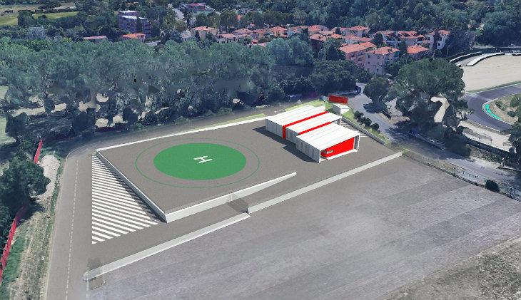 Partiti all'autodromo Enzo e Dino Ferrari i lavori per la costruzione del nuovo Centro medico