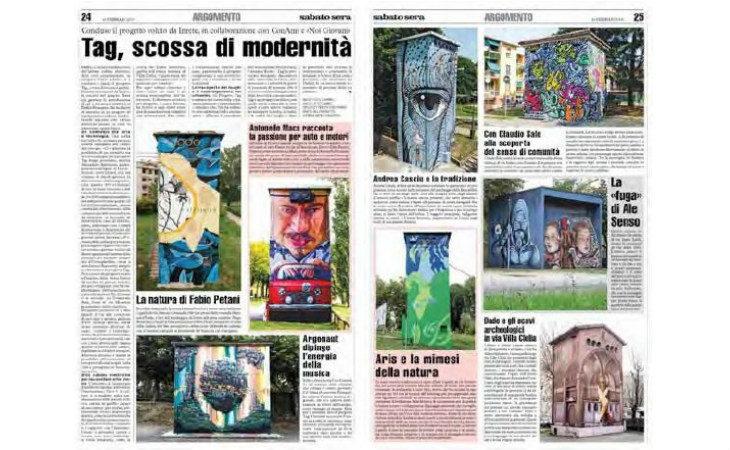 Prosegue il progetto Tag, nella seconda edizione rigenerazione artistica per undici cabine di Hera