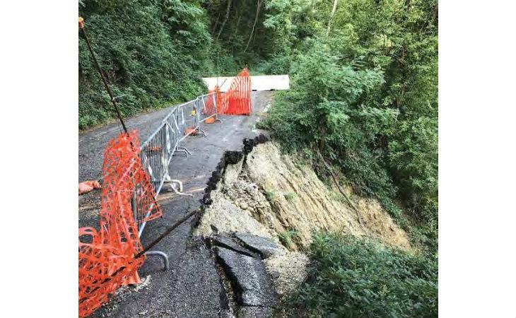A gennaio sarà ripristinata la frana in via Montecerere, a causa della quale la strada è chiusa da maggio