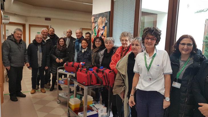 Una donazione di oltre 1.300 euro in materiale per l'assistenza infermieristica alla Casa della Salute di Borgo