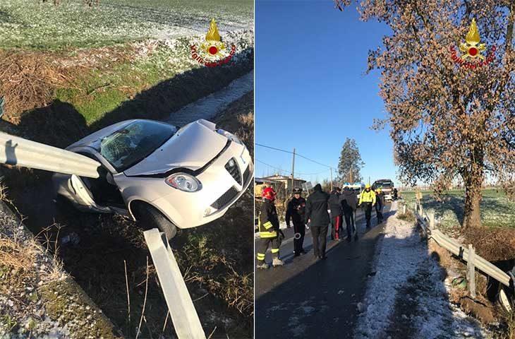 Maltempo, neve e ghiaccio, incidenti a Imola e Medicina