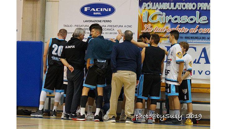 Basket C Gold, l'Olimpia Castello sfiora l'impresa a casa di Bologna Basket