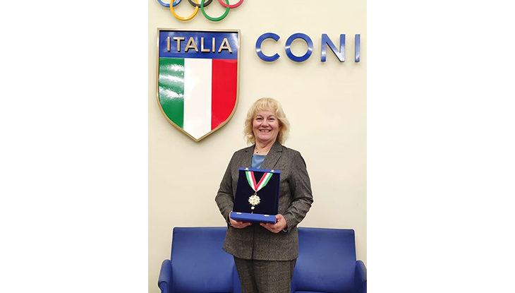 Collare d'oro per Paola Tattini, massima onorificenza per l'iridata ozzanese del tiro a volo