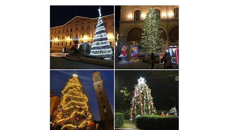 Alberi di Natale, una tradizione per grandi e bambini. Allestiti in piazza anche a Imola e nel Circondario fino ad Ozzano