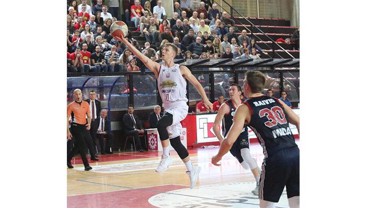 Basket A2, l'Andrea Costa non fa sconti. Montegranaro battuta a domicilio