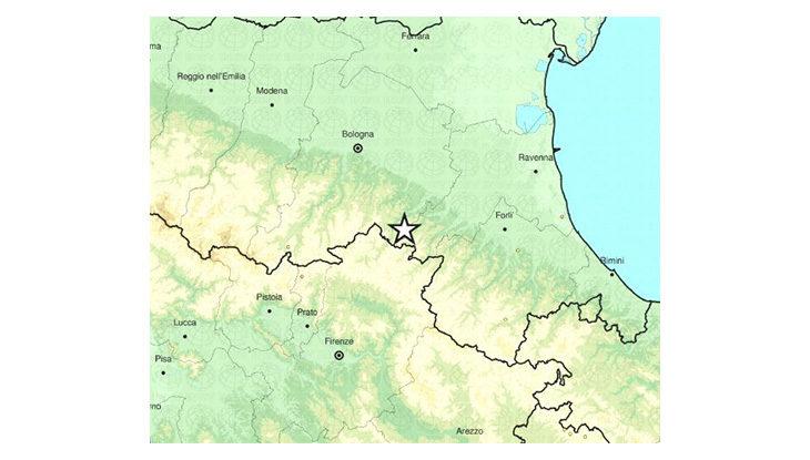 Scossa di terremoto in Vallata con epicentro a pochi km da Castel del Rio