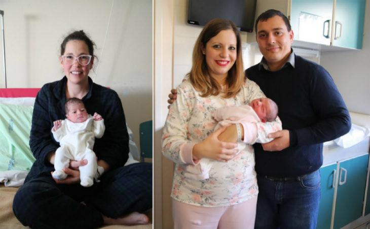 Lucia Ferrini è l'ultima nata del 2019 nel reparto di Ostetricia di Imola, Anna La Fauci la prima del 2020