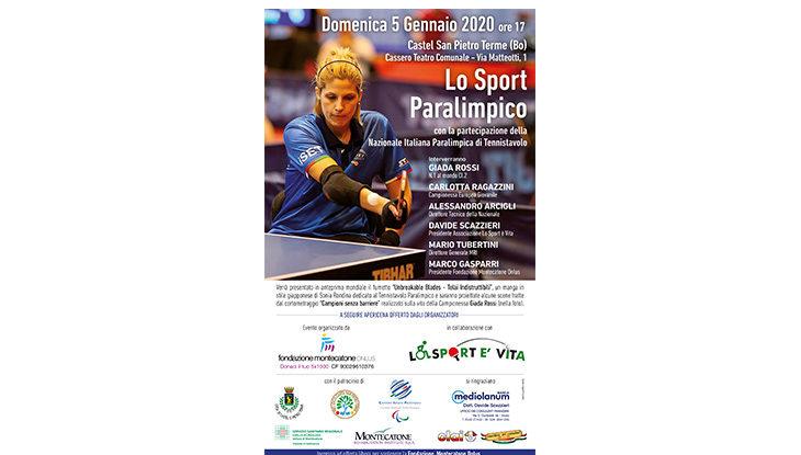 Lo sport paralimpico e la Nazionale Italiana di tennistavolo fanno tappa al teatro Cassero di Castel San Pietro