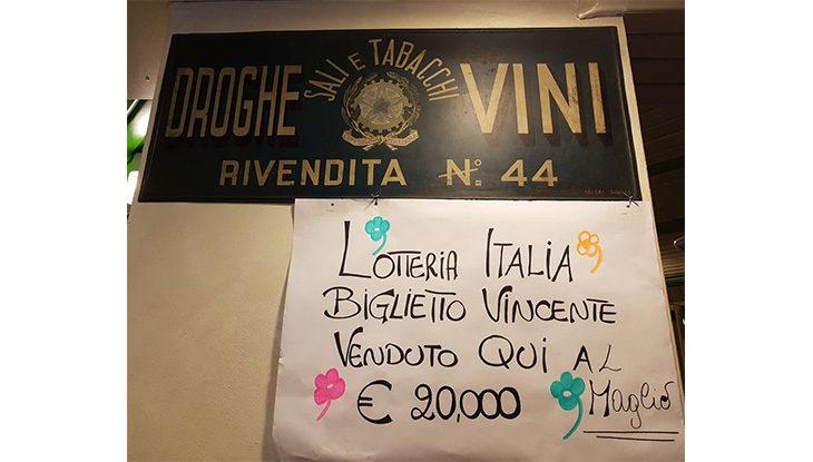 Lotteria Italia, a Imola il biglietto vincente da 20 mila euro è stato venduto al Bar Il Maglio