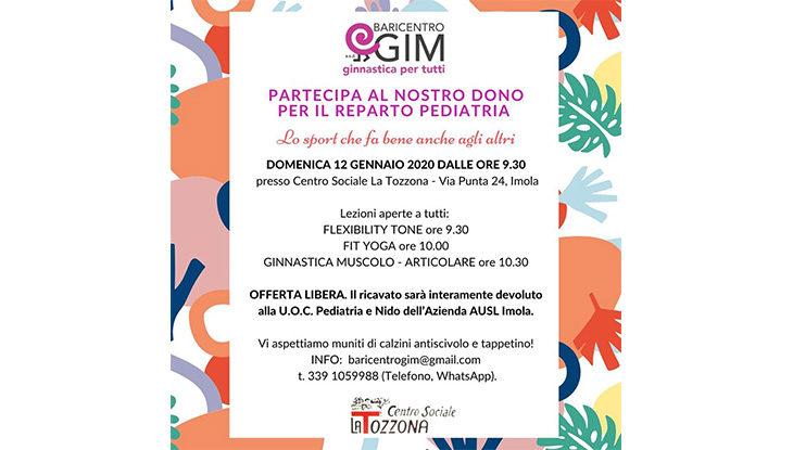 Baricento Gim e l'evento di beneficenza per il reparto di pedriatria e nido dell'ospedale di Imola