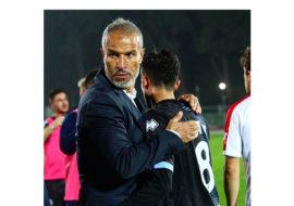 Calcio serie C, il tecnico Atzori e Matteo Chinellato nel post partita di Imolese-Rimini. IL VIDEO