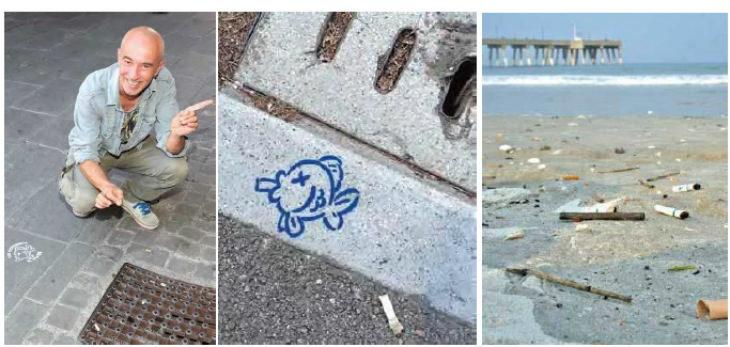 «Qui comincia il mare», a Imola la campagna per sensibilizzare i fumatori contro l'inquinamento da mozziconi