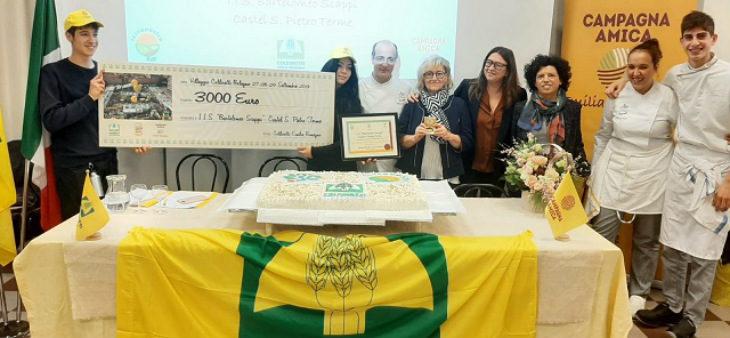 Coldiretti dona all'Istituto Scappi 3 mila euro e 150 diplomi per i tirocini svolti dagli studenti