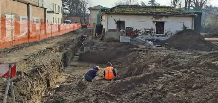 Tracce di epoca romana ritrovate a Imola durante gli scavi per i due parcheggi da realizzare accanto a casa Alzheimer