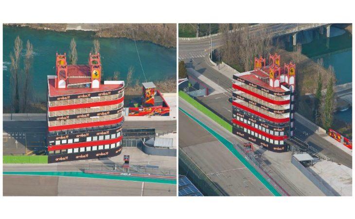 La torre dell'autodromo va… Aruba, ecco il nuovo look con i colori del main sponsor Ducati Superbike