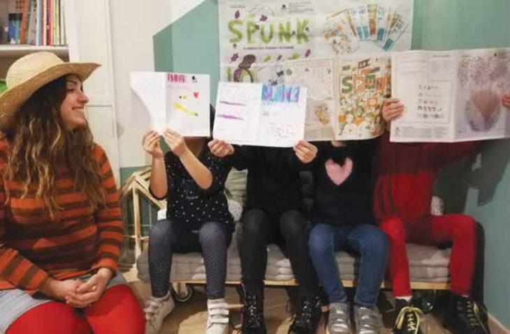 Lo Spunk, un vero giornale che la Cooperativa Bacchilega pubblica per le bambine e i bambini
