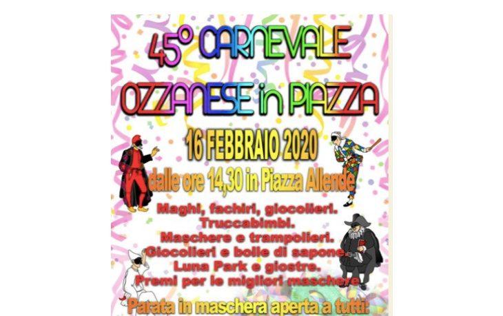Ozzano domani festeggia il Carnevale con una parata e una festa in piazza