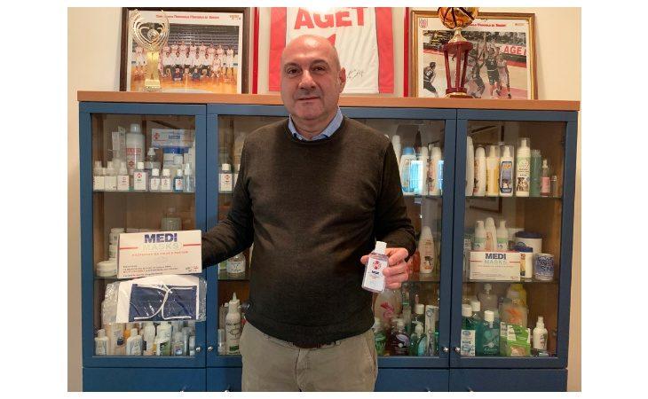 Coronavirus, produzione incrementata all'Aget Service: «Igienizzanti e mascherine richiesti anche dalla Cina»