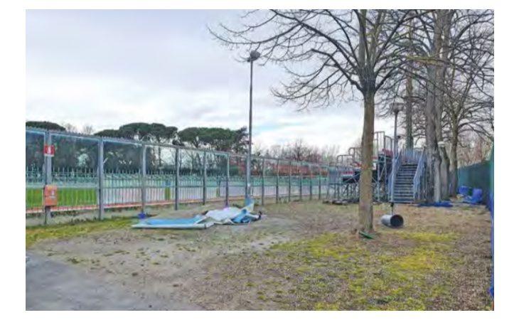 Tracce di proiettili sotto lo stadio Romeo Galli, gli scavi per le torri-faro inizieranno dopo gli artificieri